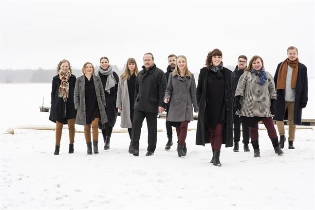 Mrs. Bighill singers med körledare Heidi Storbacka i spetsen är med på konserten Julglädje i Nykarleby den 14 december 2019.