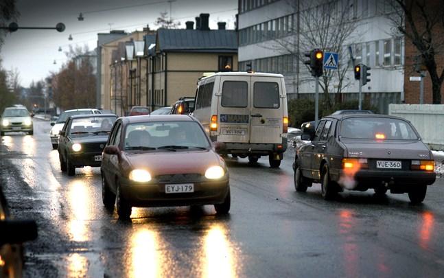 En sektion av Vörågatan är bara öppen för bussar och de som ska till tomterna fram till Lucia.