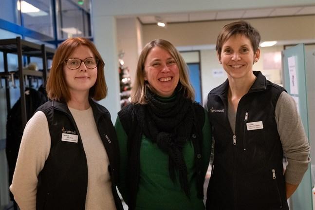 Sofi Jylhä, Susann Rabb och Anna-Mari Markén ser fram emot det utökade samarbetet.