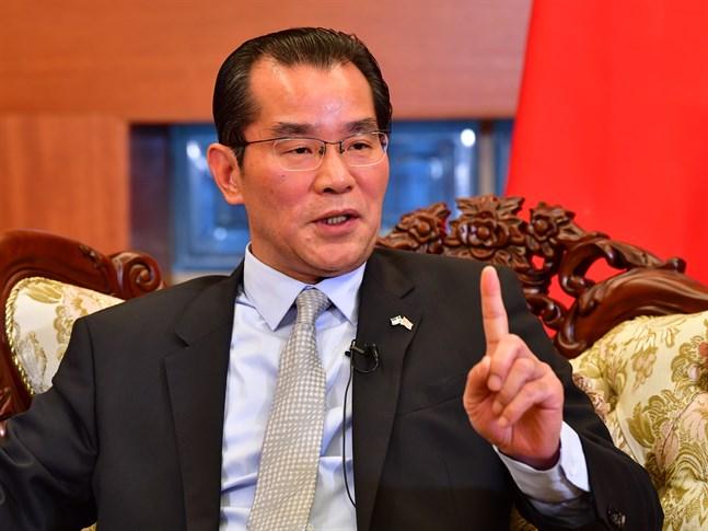 Kinas Sverigeambassadör Gui Congyou hotar nu med begränsat handelsutbyte med Sverige. Arkivbild.
