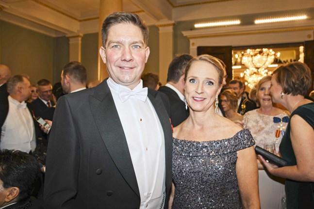 Thomas Blomqvist och hustrun Mia.
