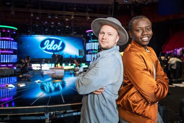 Idolerna Freddie Liljegren och Tusse Chiza gör upp i Globen.