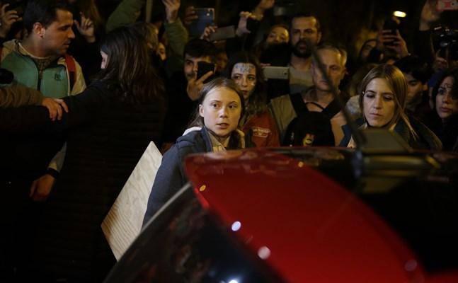 Greta Thunberg fick avbryta klimatprotesterna av säkerhetsskäl. Arkivbild.