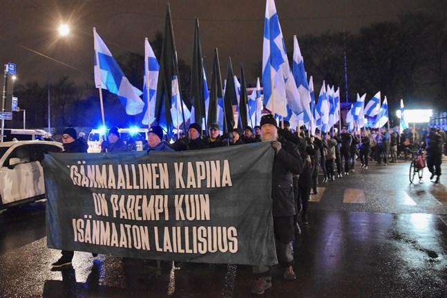 Bland annat Solders of Odin marscherade i Helsingfors på självständighetsdagen.