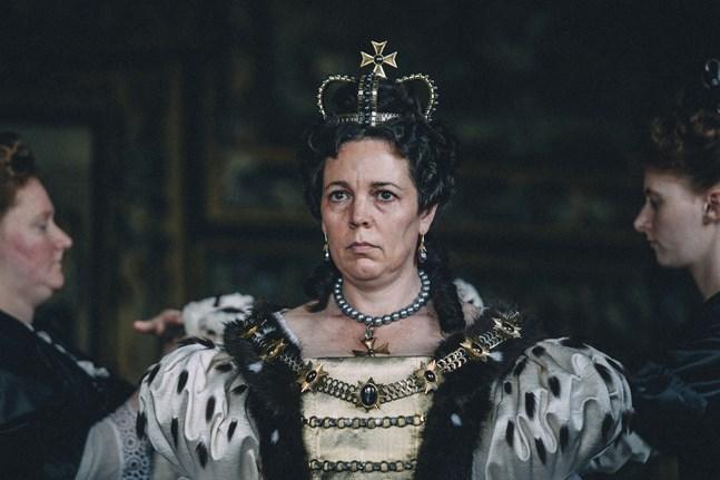 """Olivia Colman spelar huvudrollen som drottning Anna av Storbritannien i """"The favourite"""". Arkivbild."""