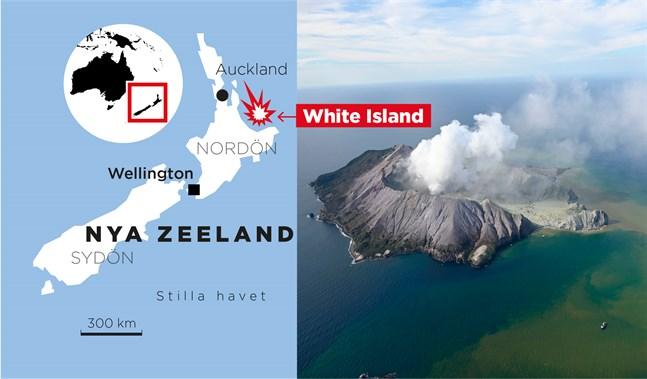 Den obebodda vulkanön White Island är ett populärt turistmål.