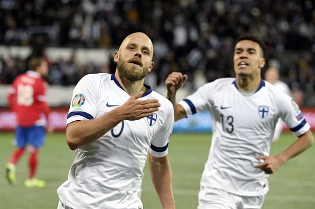 Teemu Pukki, Pyry Soiri och lagkamraterna i landslaget möter Sverige strax innan nästa sommars EM.