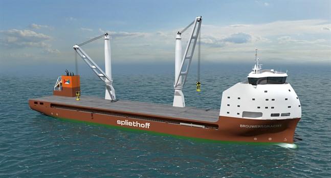 De två specialbyggda fartygen lämpar sig för tung transport av bland annat rör.