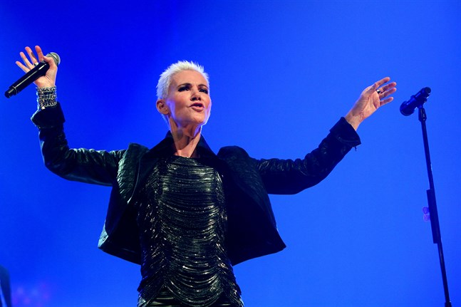 Roxette turnerade jorden runt flera gånger. På bilden Marie Fredriksson under en konsert i Antwerpen i Belgien 2009. Arkivbild.