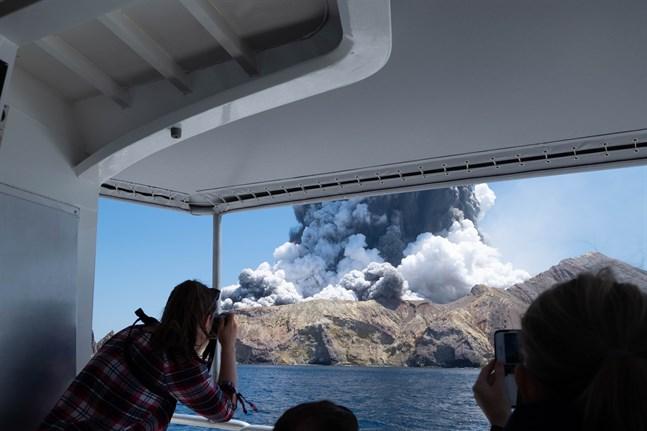 Myndigheterna på Nya Zeeland räknar inte med att hitta överlevande efter vulkanutbrottet på White Island. Arkivbild