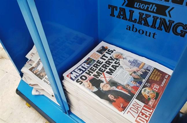 Boris Johnson i en glödlampa eller Jeremy Corbyn bland åskmoln. Tabloiderna står för de allra mest klara åsikterna inför det brittiska valet.