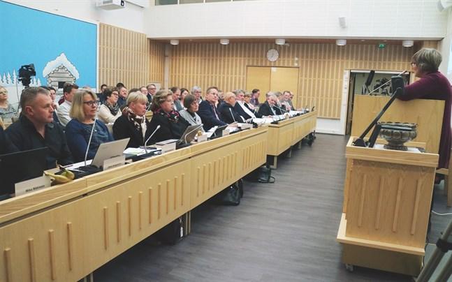 Korsholms fullmäktige behandlade en rad motioner. Bilden är tagen under ett möte i december.