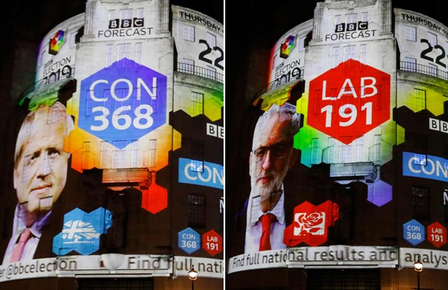 Det verkar som om Boris Johnson skulle vinna valet med rejäl marginal.
