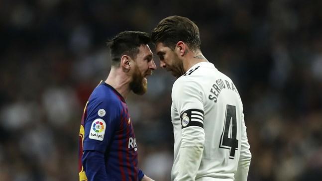 Lionel Messi, Barcelona, och Sergio Ramos, Real Madrid, är bittra rivaler på planen. Nu får de dela hotell. Arkivbild.