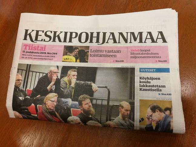 Tidningen Keskipohjanmaa blir inte sexdagars tidning på papper.