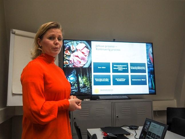 Heidi Matinlassi, projektledare för Talents Scout-projektet på Concordia.