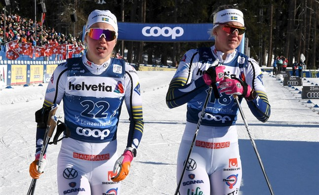 Emma Ribom och Maja Dahlqvist lyckades inte ta sig till final i Schweiz.