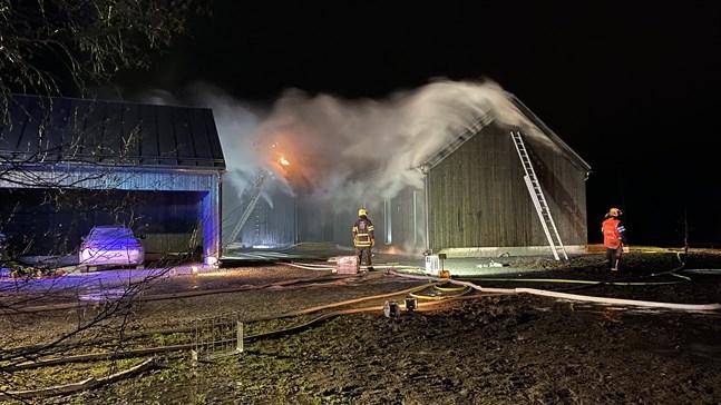 Bild från måndagens brand.