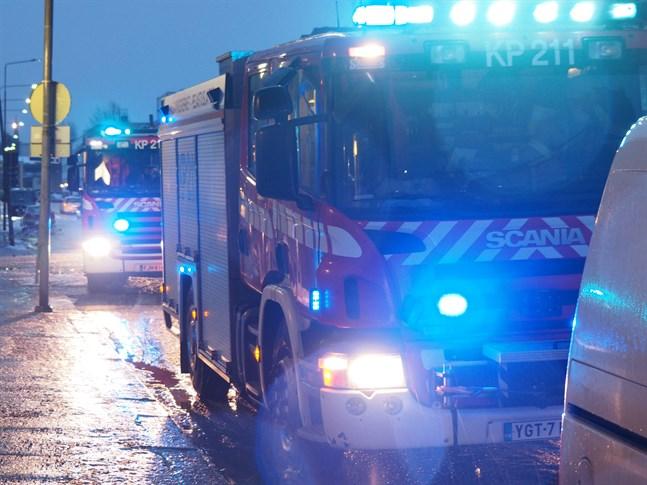 Ägaren släckte branden själv, men räddningsverket kallades till platsen.