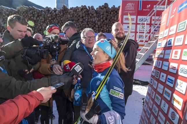 Therese Johaug i fokus inför Tour de Ski-avslutningen.