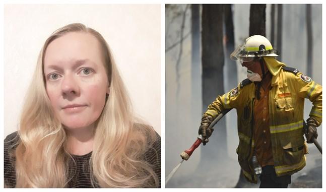 Alicia Trezise-Segervall kan bara se på när Australien står i lågor. Det här är de värsta skogsbränderna på tio år.
