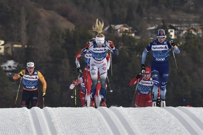 Anne Kyllönen stod för en mycket positiv insats i dagens klassiska sprint i Tour de Ski.