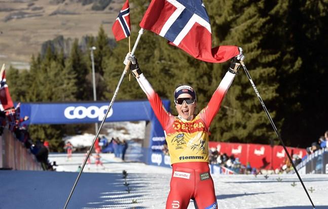 Therese Johaug avgjorde Tour de Ski genast i början av den fruktade backen Alpe Cermis.