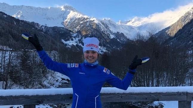Heidi Kuuttinen turnerade flitigt i december. Här ett foto från alperna i Italien. Nu väntar IBU-cupen i Polen.
