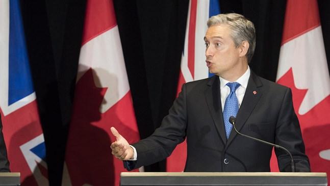 Kanadas utrikesminister François-Philippe Champagne på en presskonferens tidigare i veckan.