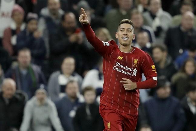 Roberto Firmino ordnade en ny trepoängare för Liverpool mot Tottenham.