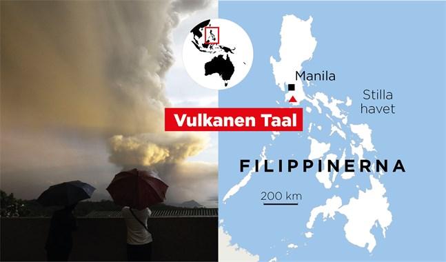 Vulkanen Taal på Filippinerna.