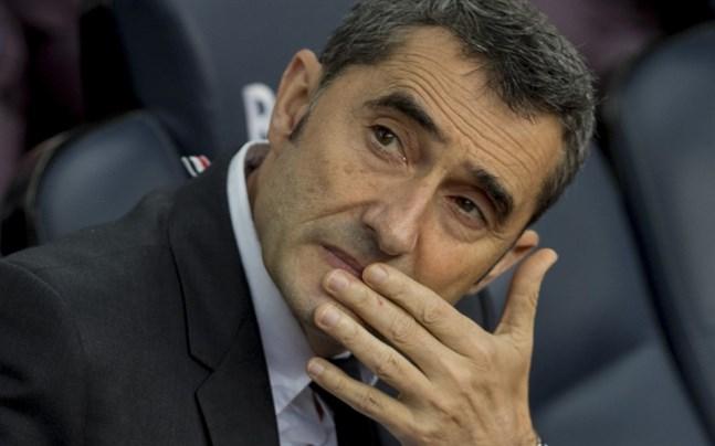 Ernesto Valverde, numera före detta tränare i FC Barcelona.