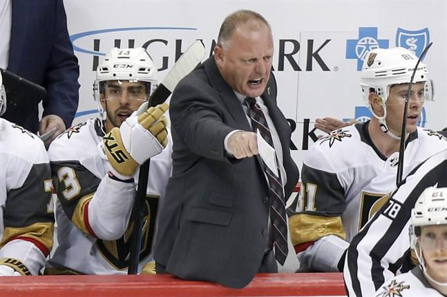 Gerard Gallant sparkas som tränare i NHL-klubben Vegas. Arkivbild.