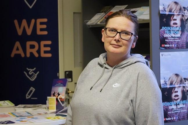 Tiina Palonen har jobbat som ungdomsinformatör i åtta år.