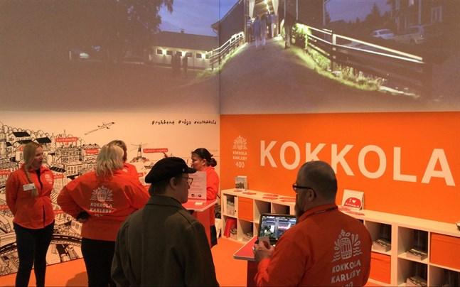 400-årsjubilerande Karleby håller sig väl framme med en egen monter på den stora resemässan i Helsingfors under veckoslutet.