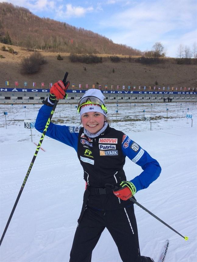 Heidi Kuuttinen var glad efter sina två lyckade lopp i IBU-cupen i Slovakien.