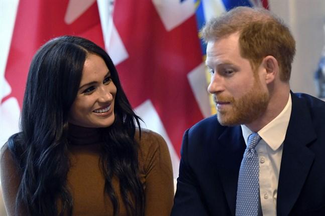 Storbritanniens prins Harry och hans hustru Meghan. Arkivbild.