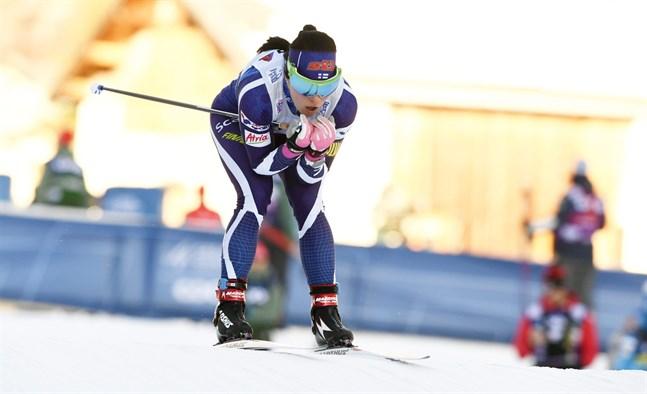 Krista Pärmäkoski klarade inte av att hålla samma fart som Ingvild Flugstad Östberg.