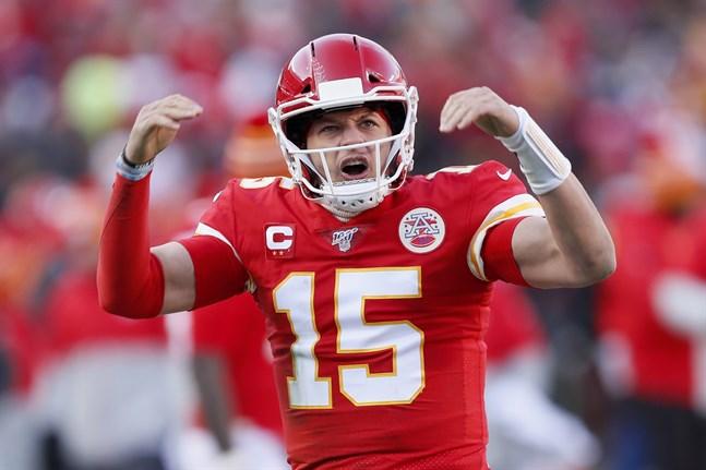 Kansas City Chiefs quarterback Patrick Mahomes var briljant när hans lag säkrade en plats i Super Bowl för första gången sedan 1970.