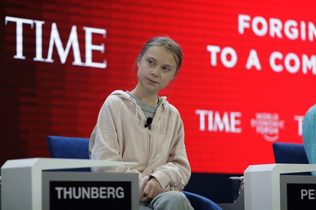 Den svenska klimataktivisten Greta Thunberg.