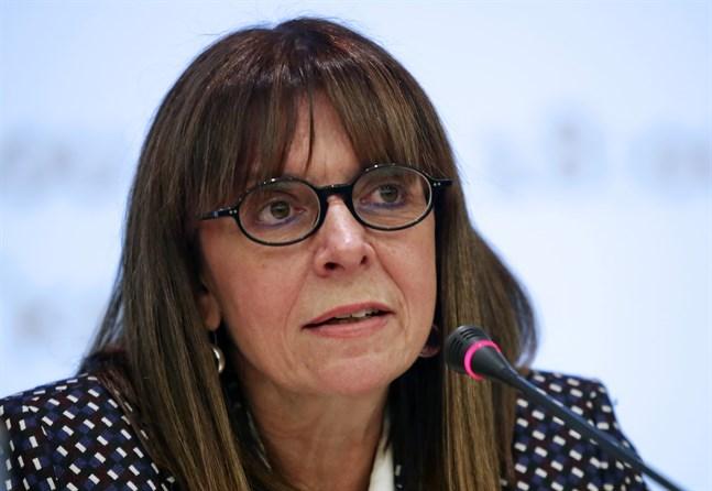 Ekaterini Sakellaropoulou. Bild från 2018.