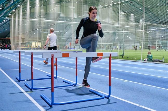 Mathilda Kvist, Vasa Idrottssällskap, under en träning Botniahallen i januari förra året.