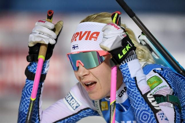 Kaisa Mäkäräinen lyckades inte knipa någon topp-placering i distansloppet i Pokljuka.