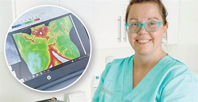 Det finns de som väljer bort mammografi på grund av strålningen, säger Pia Solback-Nordling som erbjuder termografi-undersökningar.