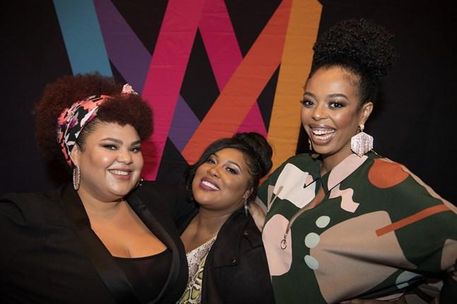 """Loulou Lamotte, Ashley Haynes, Dinah Yonas Manna i The Mamas är först ut i Melodifestivalen med låten """"Move"""". Pressbild."""