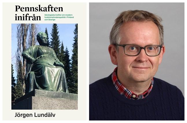 """Jörgen Lundälv är aktuell med boken """"Pennskaften inifrån - Ideologiska krafter om modern funktionshinderspolitik i Finland och Sverige""""."""