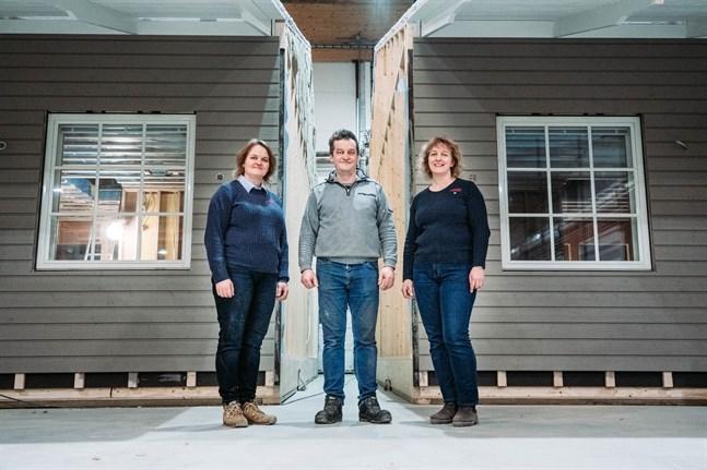 Maria Eriksson, Göran Heikius och Helena Helsing tror lägenheterna kommer att passa de flesta.
