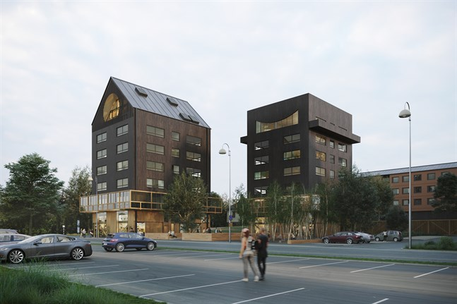 Åtminstone två våningshus i trä kan förverkligas på Köpmansgatan i Jakobstad.