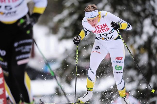 Julia Häger imponerade stort i sprinten.