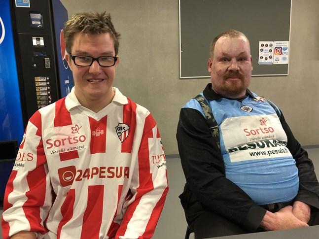 Andreas Lindqvist och Juha Salo spelade för GBK Tigers i softserien. Båda tyckte det var en rolig dag.